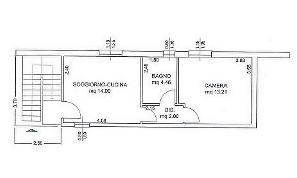 Piantina di una casa con misure interno di casa for Disegnare piantina appartamento