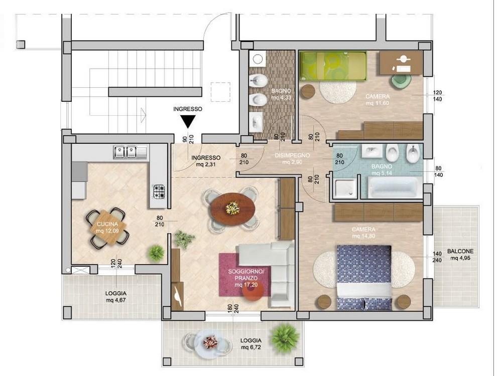 Edifica Immobiliare – Compra e Vendita immobili – Villa Verucchio – Rimini - Ampio appartamento ...